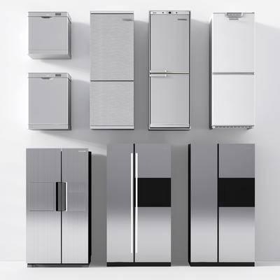 现代, 冰箱, 冰柜, 小冰箱, 双面冰箱, 单门冰箱