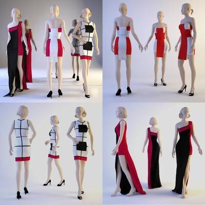 现代, 女装, 模特