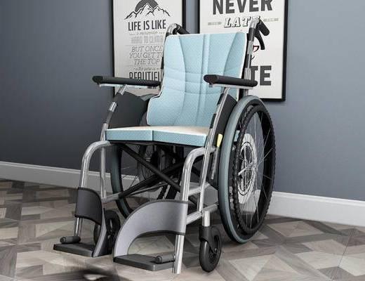 轮椅, 医疗器械, 装饰画