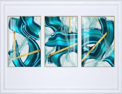 掛畫組合, 裝飾畫, 抽象掛畫, 藝術掛畫, 組合畫, 現代