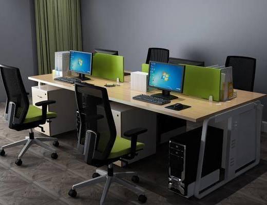 现代办公区, 办公区, 办公桌