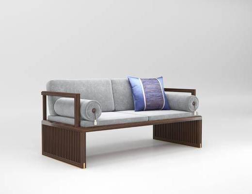 沙发, 双人沙发, 新中式沙发, 新中式双人沙发, 新中式, 双十一