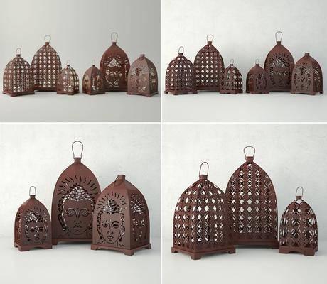蜡烛台, 摆件, 装饰灯, 佛像, 现代, 中式