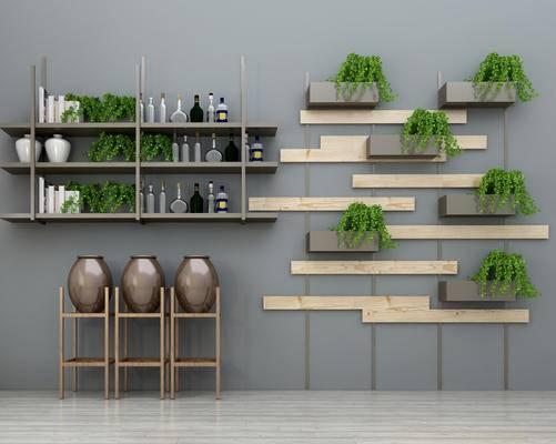 隔断, 酒架, 植物, 酒, 酒瓶, 植物架