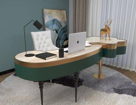 梳妝臺, 桌椅組合, 擺件組合, 裝飾畫