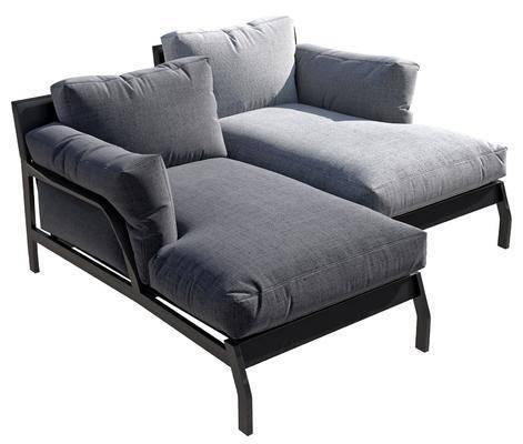 现代, 沙发床, 贵妃榻, 单体