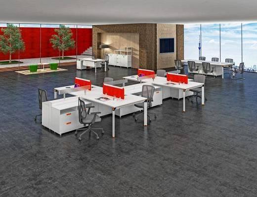 办公桌, 桌椅组合, 电脑桌