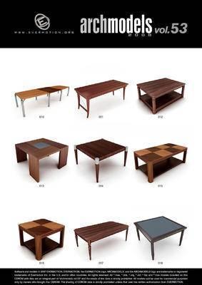 桌子, 会议桌, 办公桌, Evermotion, Archmodels, EV, 现代