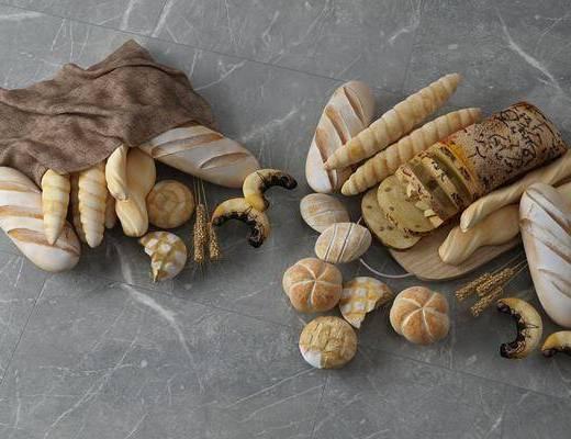 面包组合, 食物