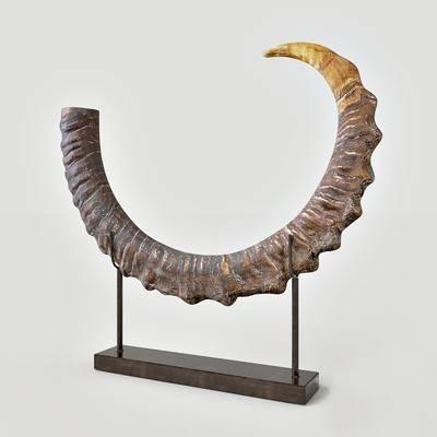 雕塑, 摆件, 动物角, 现代