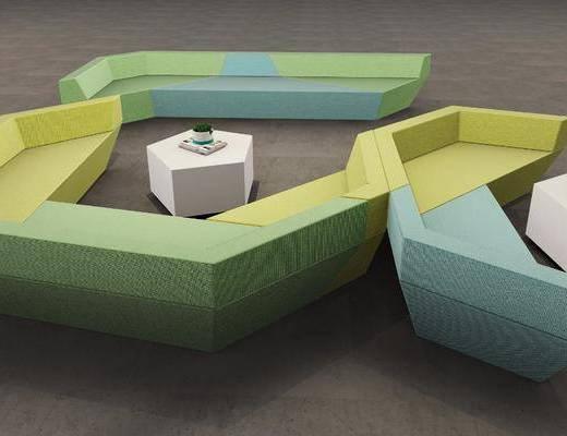 现代沙发, 后现代沙发, 沙发组合, 沙发茶几组合