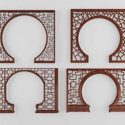 门洞, 中式, 拱门, 屏风, 中式拱门
