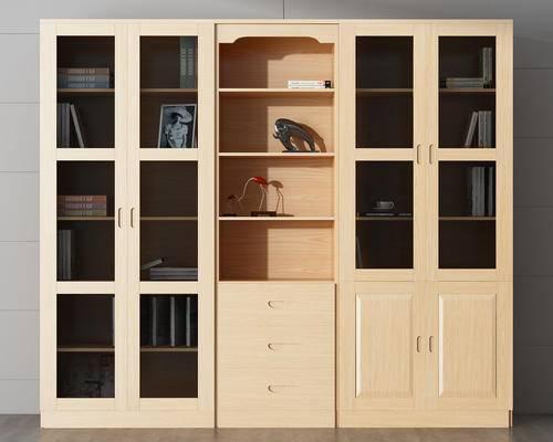 书柜, 书本, 装饰品, 摆件