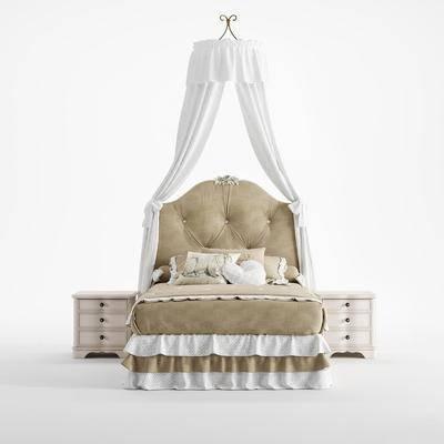 兒童床模型, 床具組合, 北歐