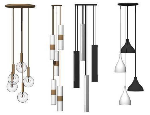 现代, 轻奢, 吊灯, 灯具