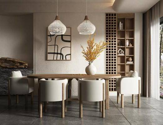 侘寂餐桌椅, 家装