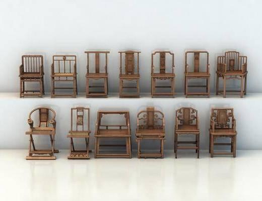 单椅, 休闲椅, 木椅, 太师椅