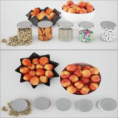储物罐, 水果饼干, 摆件, 现代