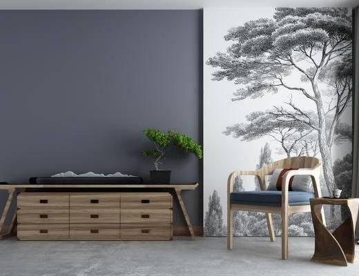 新中式电视柜装饰柜