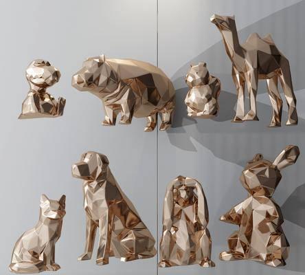 动物, 摆件, 装饰品