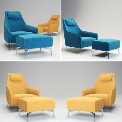 现代单人脚踏沙发, 脚踏沙发, 现代