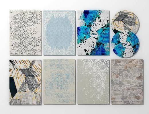现代地毯, 地毯, 方形地毯