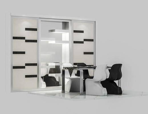 会议桌, 单人椅, 桌子, 办公椅, 现代