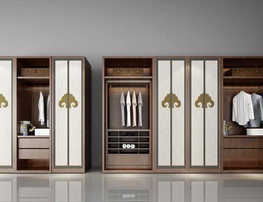 衣柜, 新中式衣柜, 衣服