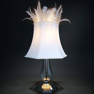 台灯, 装饰灯, 羽毛, 现代