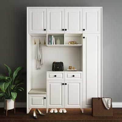 鞋柜, 柜架组合, 置物柜, 衣柜