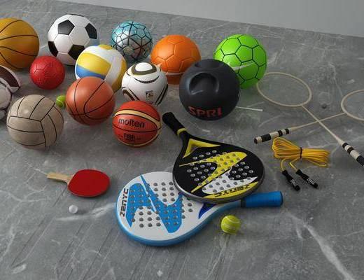 篮球足球, 体育器材, 现代