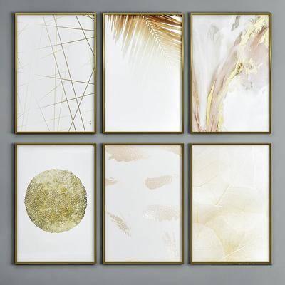 装饰画, 组合画, 金属挂画, 现代