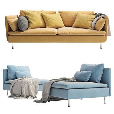 现代, 纯色, 沙发