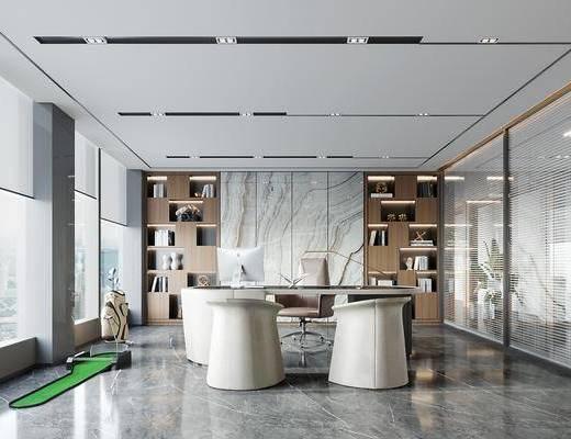 现代, 办公室, 工装