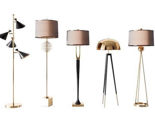 现代, 落地灯, 灯具