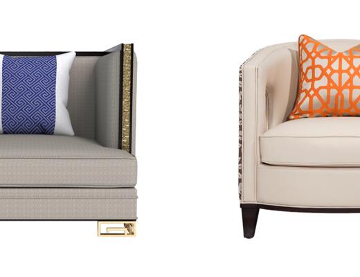 单人沙发, 新中式单人沙发