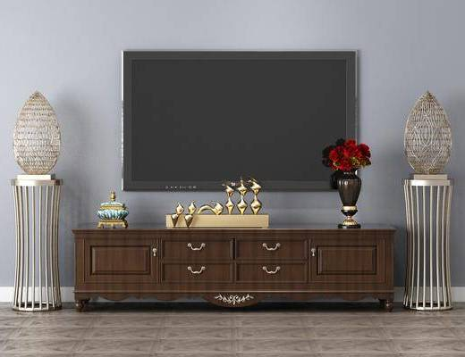 電視柜, 擺件組合, 裝飾物