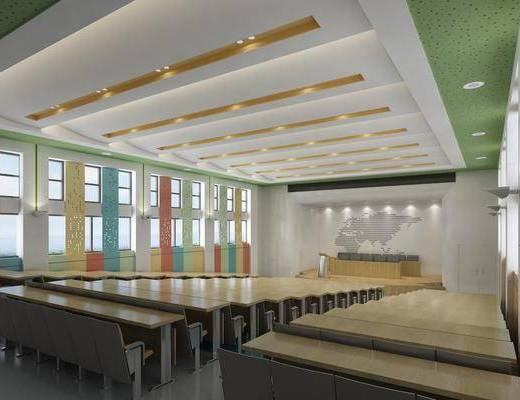 会议室, 现代会议室, 桌椅组合
