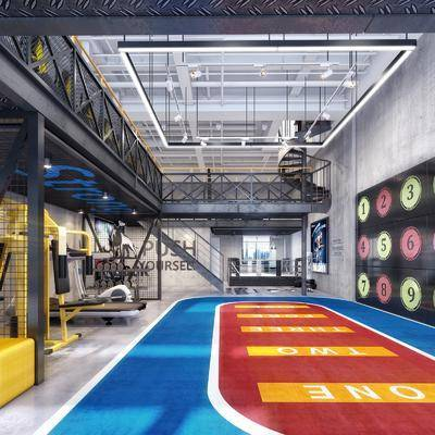 工业风健身房, 健身房, 健身室