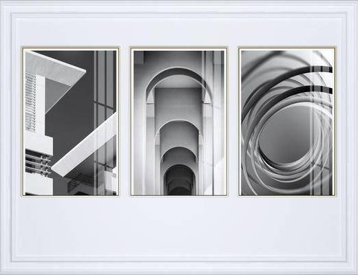 抽象挂画, 挂画组合, 组合画, 现代