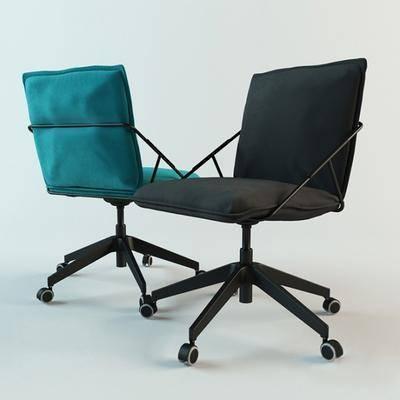 办公椅, 滑轮椅, 单人椅, 现代