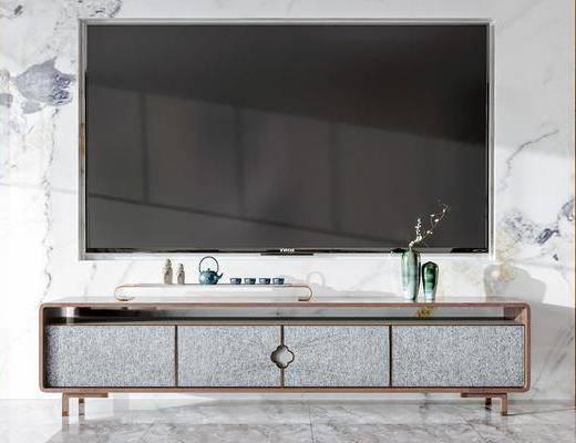 新中式, 电视柜, 柜架