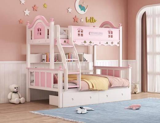 簡歐, 上下鋪, 兒童床, 組合