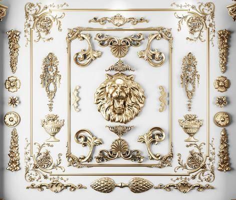 简欧, 雕花, 雕刻, 罗马柱