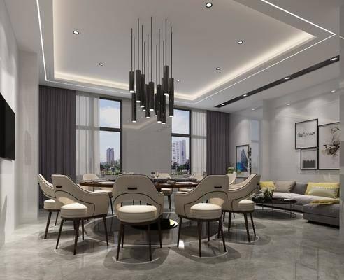 餐廳, 桌椅組合, 沙發組合, 現代餐廳