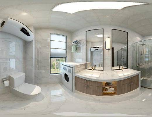 后现代卫生间, 卫生间, 浴室