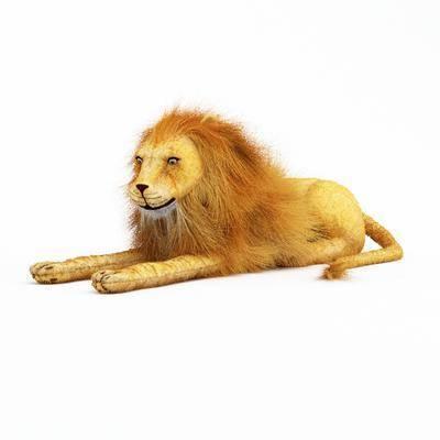玩具, 狮子, 摆件