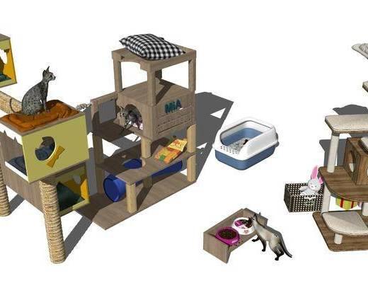 猫舍, 猫屋, 笼子