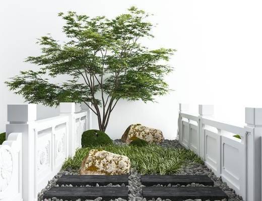 树木, 景观小品, 植物