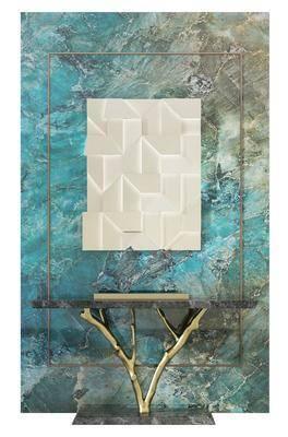 现代, 玄关柜, 装饰架, 组合